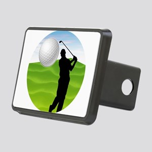 Golf Ball Coming at You Rectangular Hitch Cover