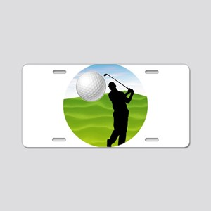 Golf Ball Coming at You Aluminum License Plate
