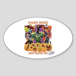 Personalized Halloween Avengers Sticker (Oval)
