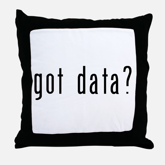 got data black.psd Throw Pillow