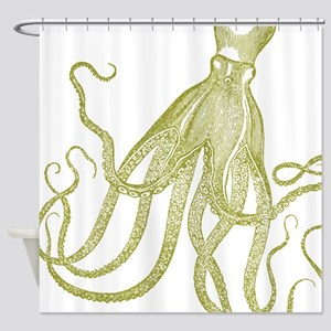 Exquisite Vintage Octopus Shower Curtain
