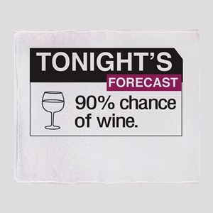Tonight's Forecast 90% chance of wine Throw Blanke