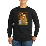 The Kiss / Coton Long Sleeve Dark T-Shirt