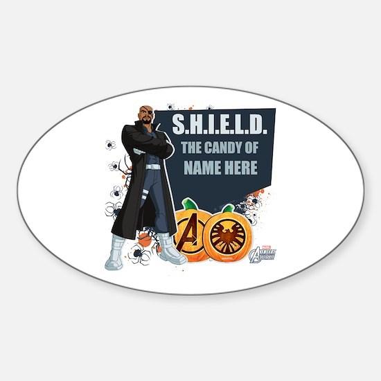 SHIELD Personalized Halloween Sticker (Oval)