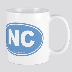 North Carolina NC Euro Oval Mug