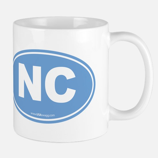 North Carolina NC Euro Oval Mug
