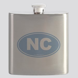 North Carolina NC Euro Oval Flask