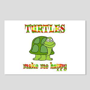Turtles Make Me Happy Postcards (Package of 8)