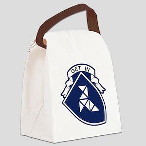 Belgium Air Force BAF Patch 8 Squ Canvas Lunch Bag