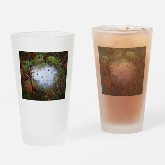 Milkweed Pod Burst Drinking Glass