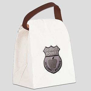 Grammar Police Canvas Lunch Bag