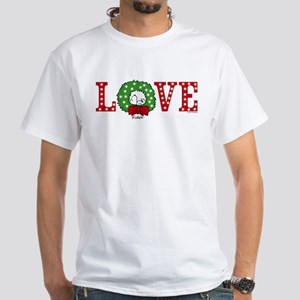 Snoopy Holiday Love White T-Shirt