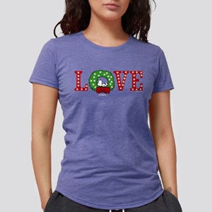 Snoopy Holiday Love Womens Tri-blend T-Shirt