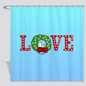 Snoopy Holiday Love Shower Curtain