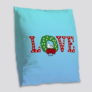 Snoopy Holiday Love Burlap Throw Pillow