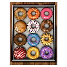 Box Of Doughnuts Wall Art Poster