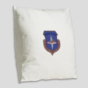 Bolivia Military Badge Tecnico Burlap Throw Pillow