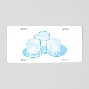 Ice Cubes Aluminum License Plate