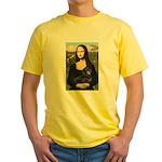 Mona Lisa/Dachshund (BT4) Yellow T-Shirt
