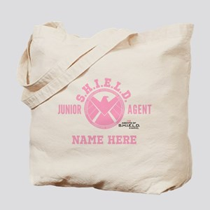 Pink Personalized Junior SHIELD Agent Tote Bag