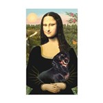Mona Lisa/Dachshund (BT4) Sticker (Rectangle)