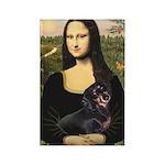 Mona Lisa/Dachshund (BT4) Rectangle Magnet