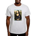 Mona Lisa/Dachshund (BT4) Light T-Shirt