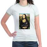 Mona Lisa/Dachshund (BT4) Jr. Ringer T-Shirt