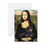 Mona Lisa/Dachshund (BT4 Greeting Cards (Pk of 10)