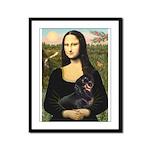 Mona Lisa/Dachshund (BT4) Framed Panel Print