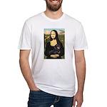 Mona Lisa/Dachshund (BT4) Fitted T-Shirt