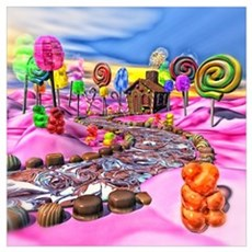 Pink Candyland Wall Art Canvas Art