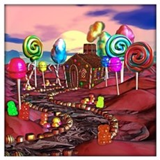 Candyland Wall Art Poster