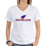 Republican Women's V-Neck T-Shirt