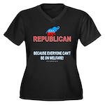 Republican Wmns Plus Sz V-Neck Dk Tee