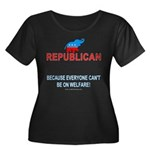 Republican Wmns Plus Sz Scoop Neck Dk Tee