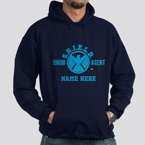 Blue Personalized Junior SHIELD Agen Hoodie (dark)