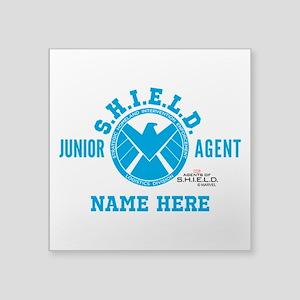 "Blue Personalized Junior SH Square Sticker 3"" x 3"""
