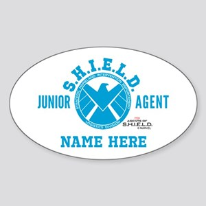 Blue Personalized Junior SHIELD Age Sticker (Oval)