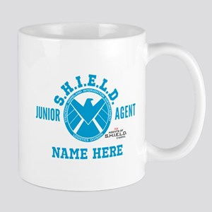 Blue Personalized Junior SHIELD Agent Mug