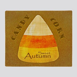 Sweet Autumn - Candy Corn Throw Blanket