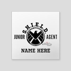 """Personalized Junior SHIELD Square Sticker 3"""" x 3"""""""