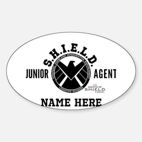 Personalized Junior SHIELD Agent Sticker (Oval)