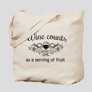 Wine counts as a serving of fruit Tote Bag