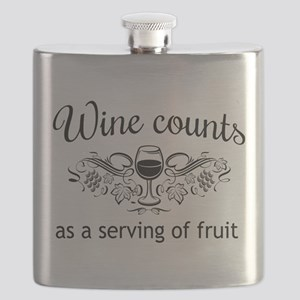 Wine counts as a serving of fruit Flask