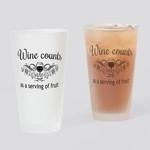 Wine counts as a serving of fruit Drinking Glass