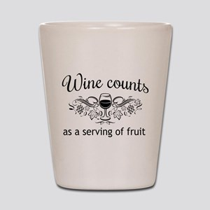 Wine counts as a serving of fruit Shot Glass