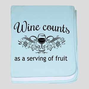 Wine counts as a serving of fruit baby blanket