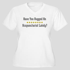 Hugged Acupuncturist Women's Plus Size V-Neck T-Sh