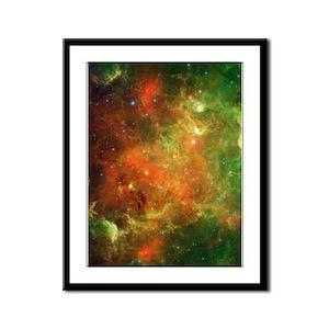 Green Space Dust Framed Panel Print